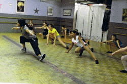 Dancers from the Ready, Set, Dance In the Heights Workshop